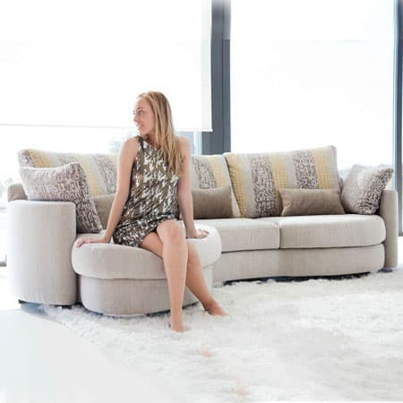 Fama Afrika sofa with chaise