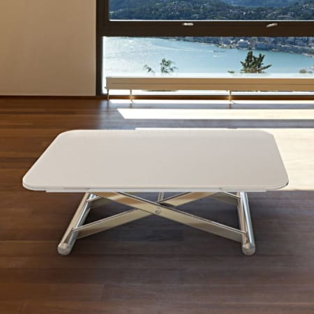 Enora coffee table - White Acid Etched