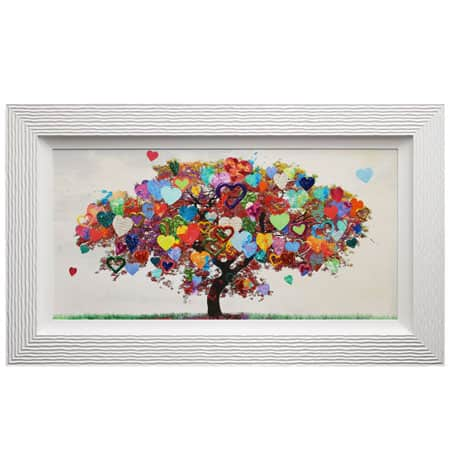 Tree of Love with liquid art from complete colour